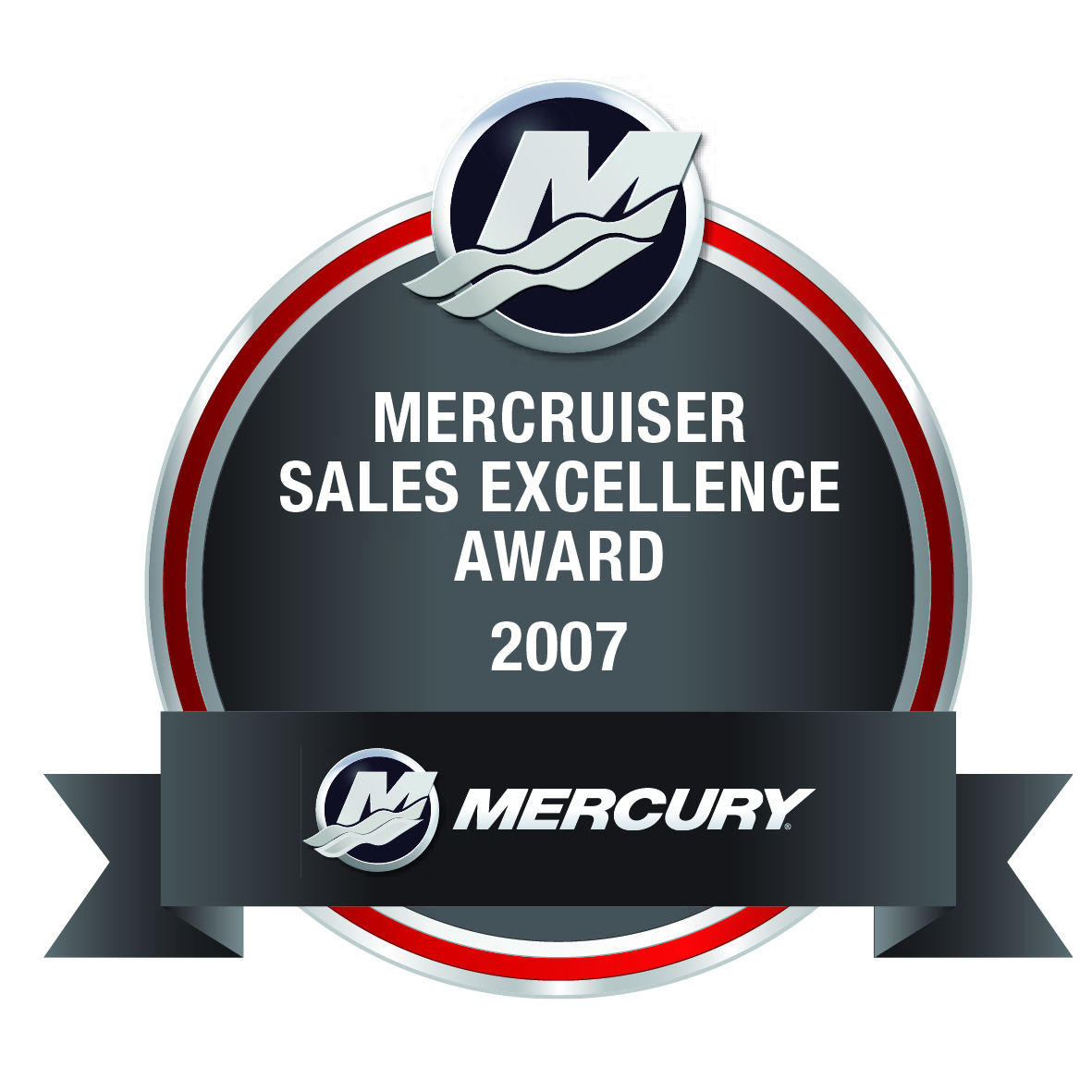 Mercruiser Sales Excellence award Hitech Marine 2007