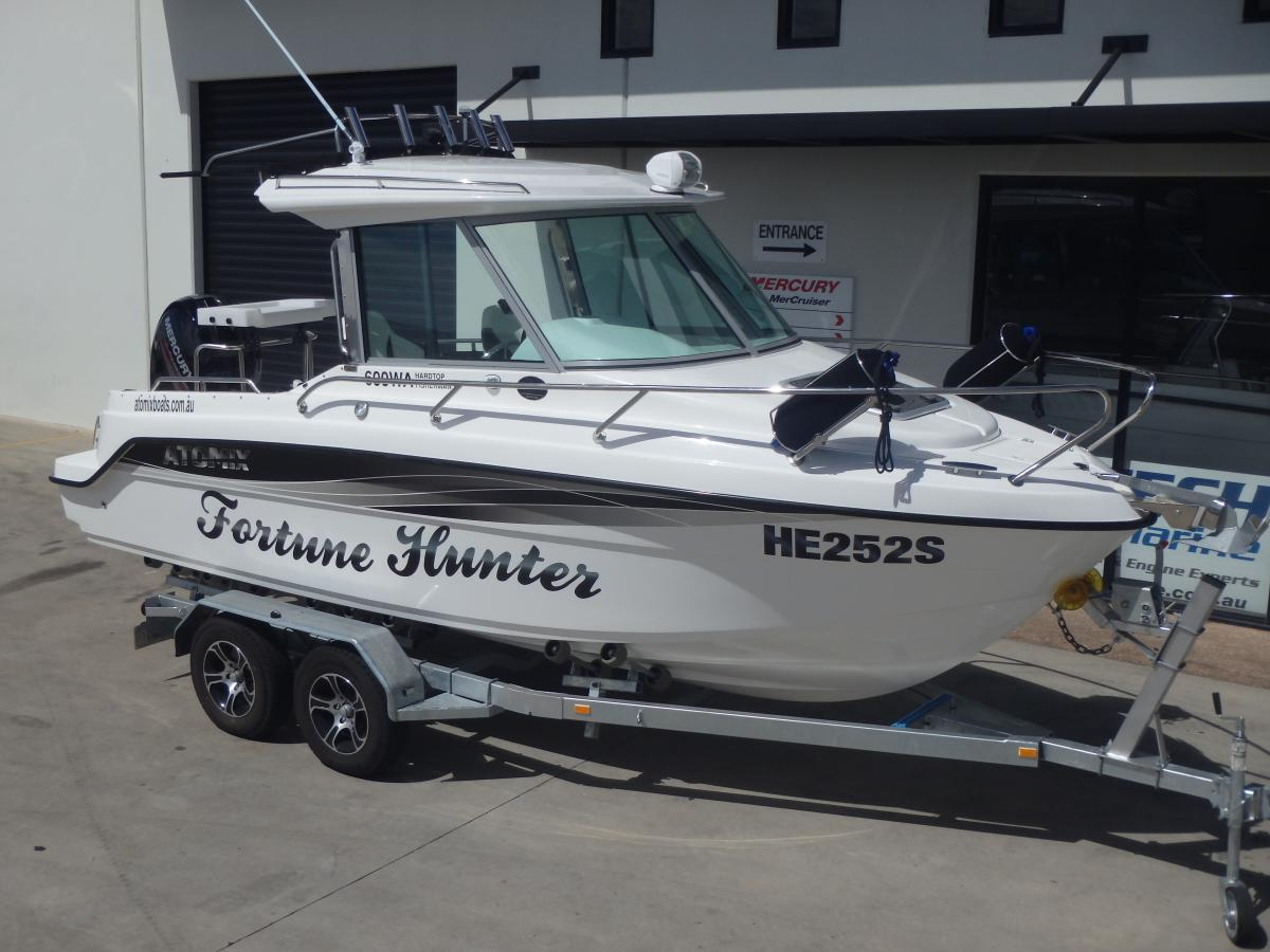 Atomix Boats 600 Walk Around Enclosed Hardtop With