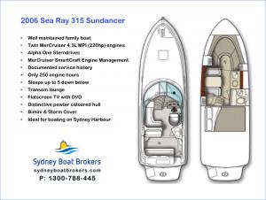 2006 Sea Ray 315 Sundancer